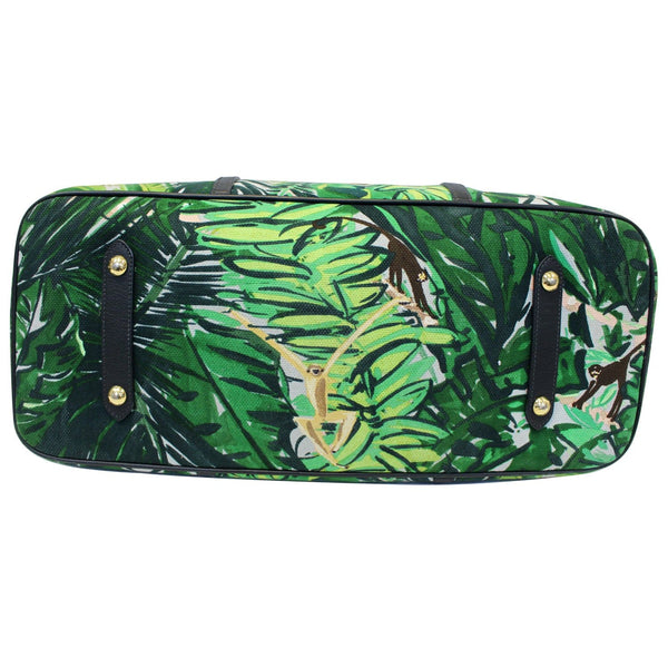 LOUIS VUITTON Ailleurs Cabas GM Printed Canvas Shoulder Bag Green-US