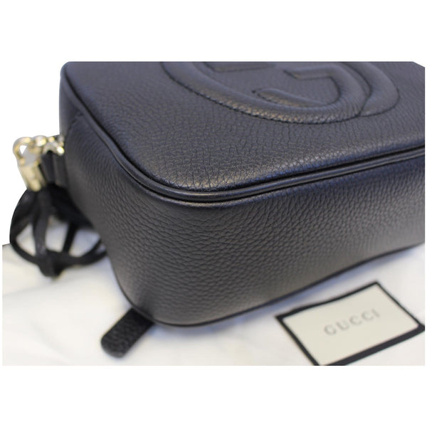 GUCCI Soho Disco Pebbled Leather Small Crossbody Bag 308364 Black