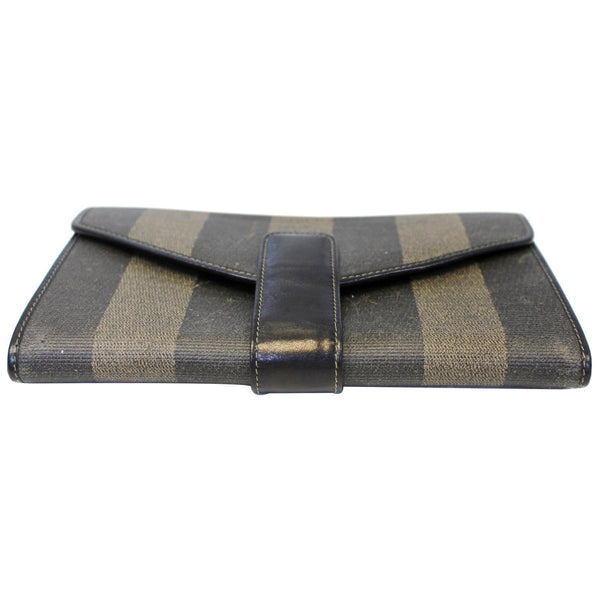 Fendi Vintage Pequin Stripe Wallet Brown - front view