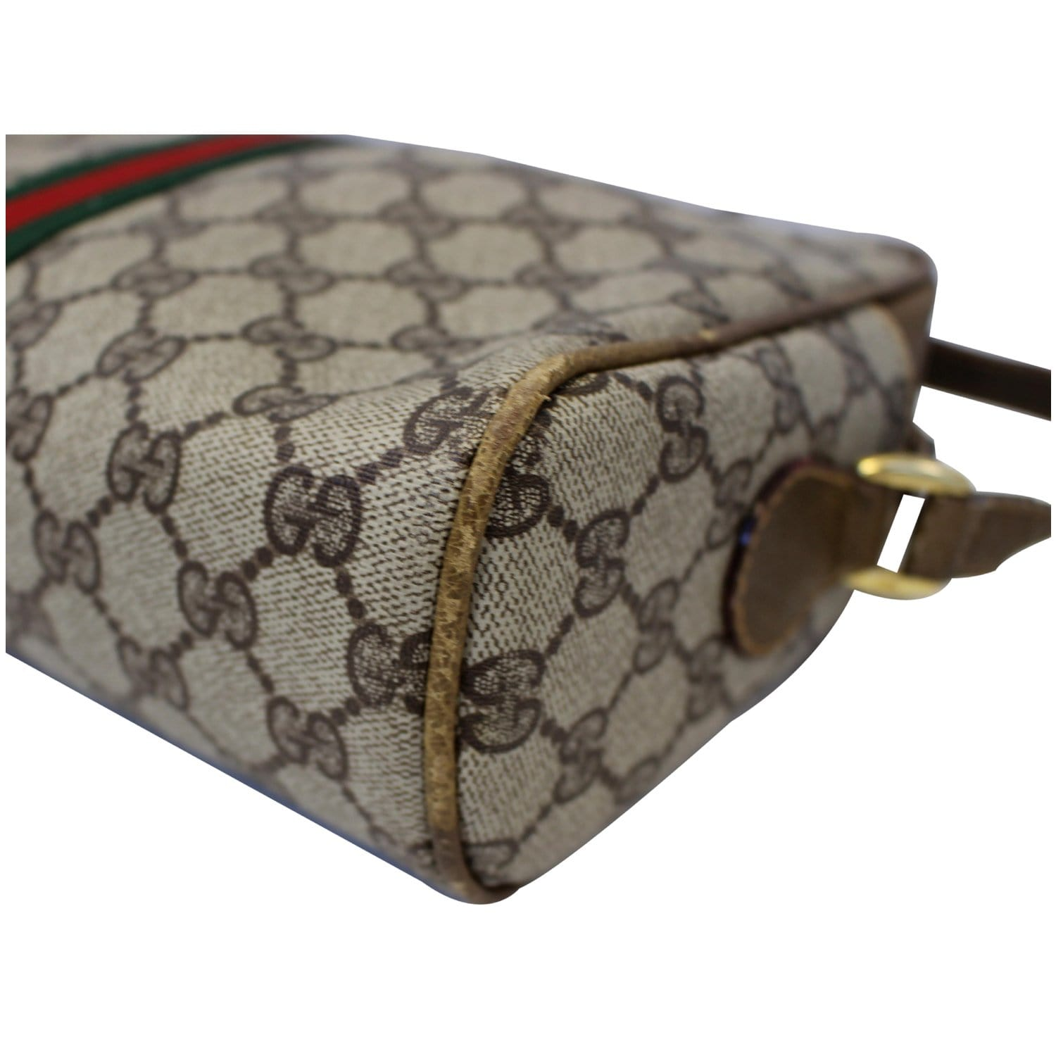 6efb13f9d62 GUCCI GG Canvas Web Crossbody Bag Vintage Brown-US