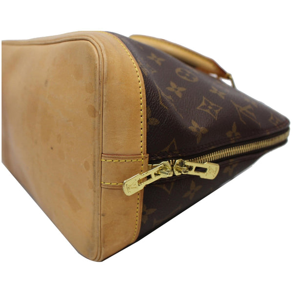 Louis Vuitton Alma Monogram Canvas Satchel Bag Brown -  preowned