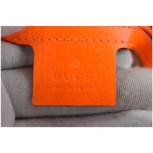 GUCCI Flora Jackie Medium Canvas Hobo Bag Orange 550152