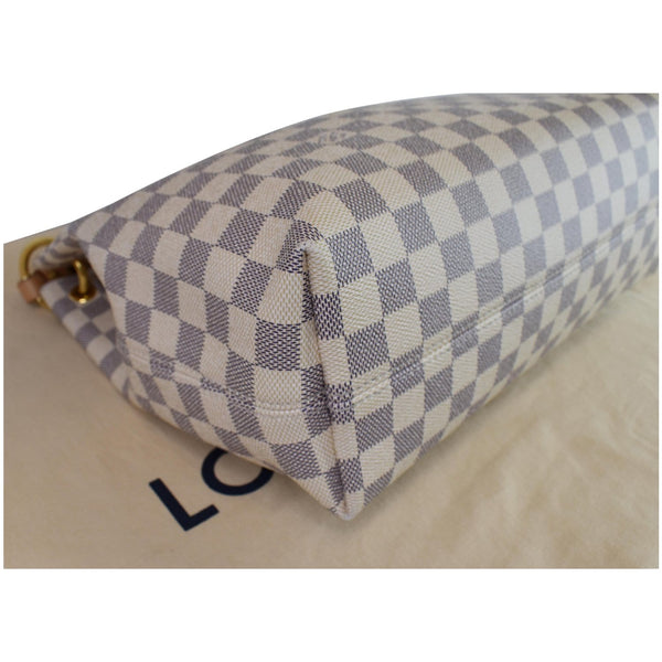 Louis Vuitton Graceful PM Damier Azur Shoulder Bag - right corner
