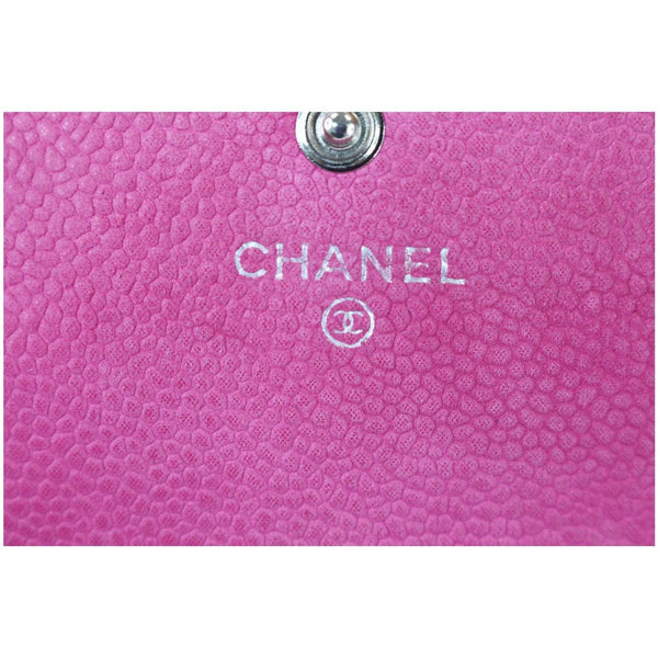 Chanel CC Caviar Leather Long Wallet Chanel logo\
