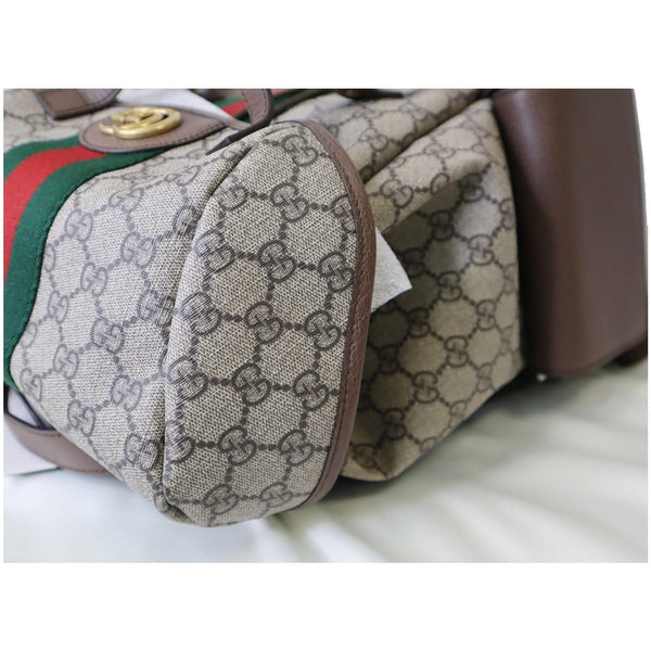 Gucci Ophidia GG Medium Supreme Canvas Backpack Bag - corner view
