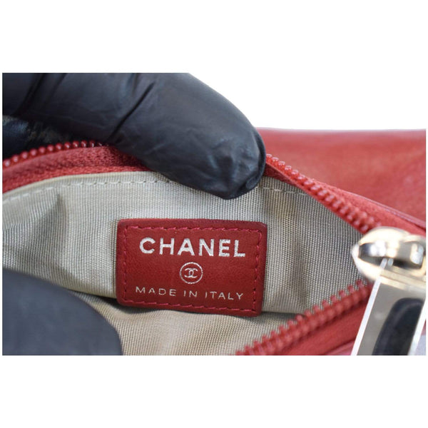 Chanel CC Key Ring Lambskin Leather Coin Case Purse made in Italy