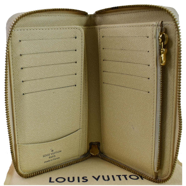 Louis Vuitton Damier Azur Zippy Organizer Wallet White - card slots