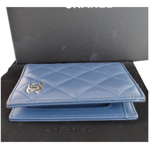 Chanel Classic Folded Leather Card Holder Wallet front preview