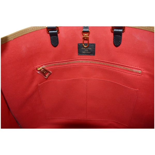 Louis Vuitton Onthego GM Reverse Monogram Canvas Bag - internal view
