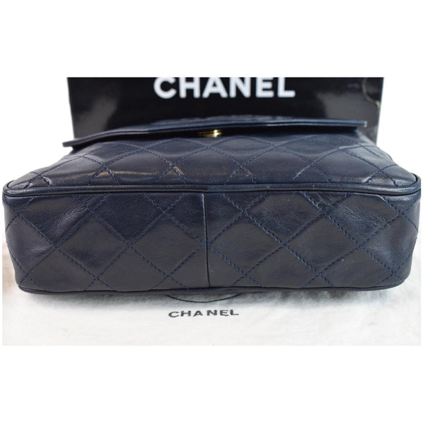 Chanel Front Pocket Lambskin Leather Bottom view