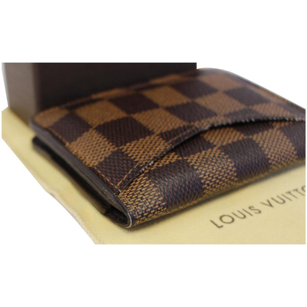 LOUIS VUITTON Pocket Organizer Damier Ebene Card Case
