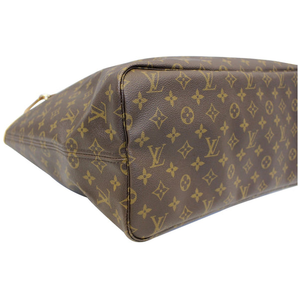 Louis Vuitton Neverfull GM Monogram Canvas Tote Bag - side view
