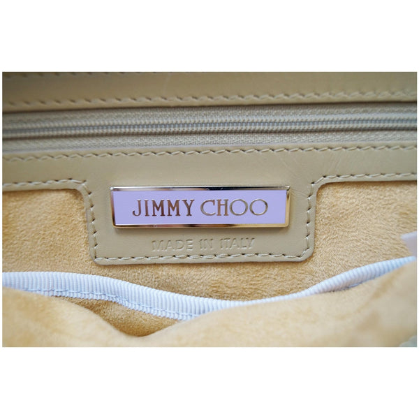 JIMMY CHOO Catherine Quilted Flap Box Satchel Bag Beige - 15% OFF