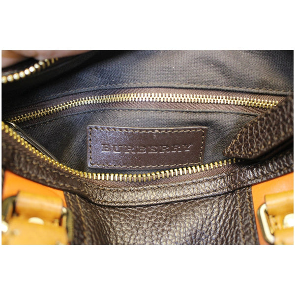 Burberry Alchester Bowling Leather Satchel Shoulder Bag Black