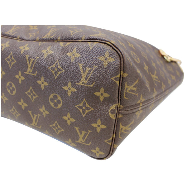 Louis Vuitton Neverfull MM Monogram Canvas Tote Bag - leather