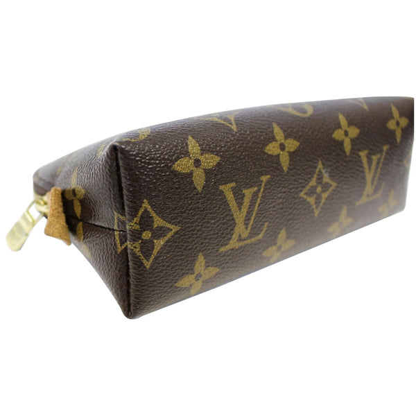 LOUIS VUITTON Pochette Monogram Canvas Cosmetic Pouch Brown