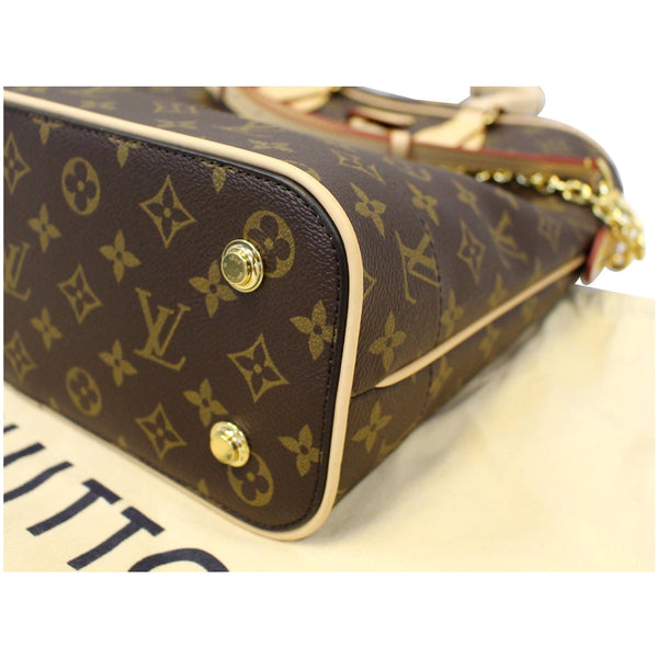 LOUIS VUITTON Carry All MM Monogram Canvas Shoulder Bag Brown-US