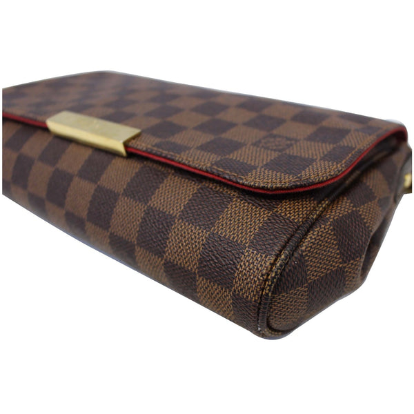 LOUIS VUITTON Favorite MM Damier Ebene Crossbody Bag Brown