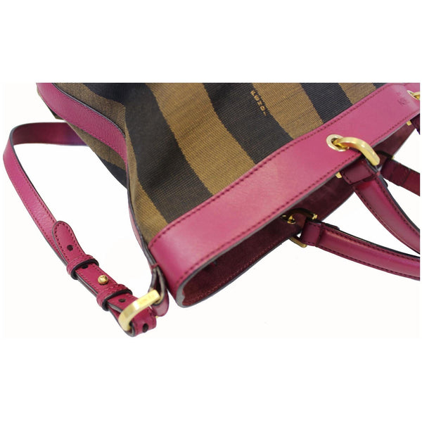 Fendi Tobacco Pequin Stripe Canvas Large - side view