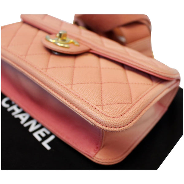 Chanel Sunset On The Sea Caviar Leather Small Flap corner view