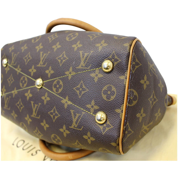LOUIS VUITTON Tivoli PM Monogram Canvas Shoulder Bag Brown