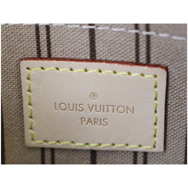 Louis Vuitton Pochette Wristlet Neverfull MM Pouch - lv logo