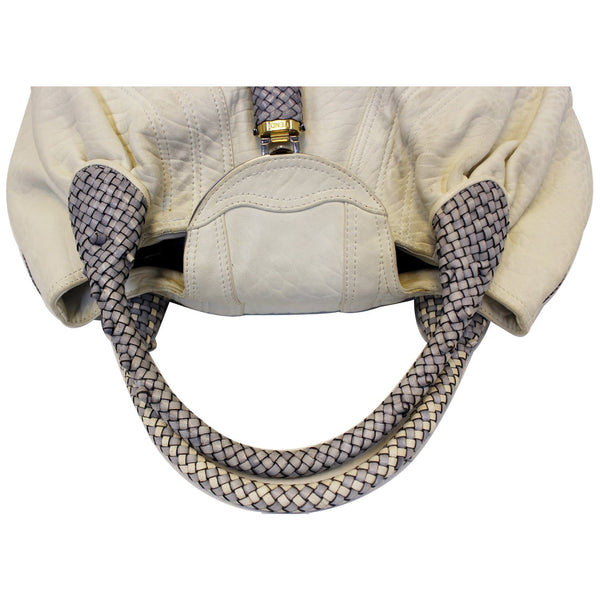 Fendi White Leather Satchel Bag For Women - strap