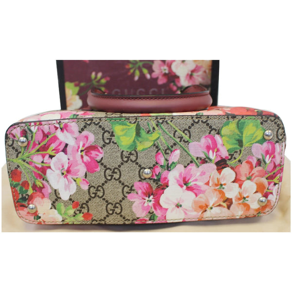 Gucci Satchel Bag GG Supreme Blooms Small - bottom view