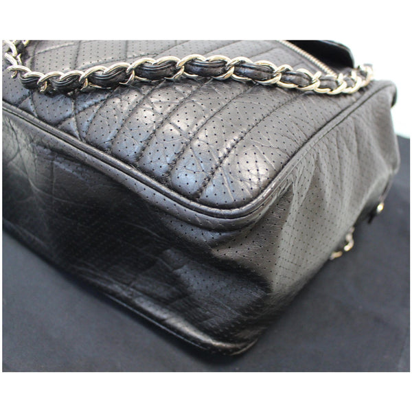 Chanel Calfskin Perforated 50's Bowler Bag - focused view