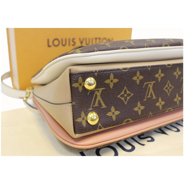 Corner side Lv Millefeuille Monogram Canvas Shoulder Bag