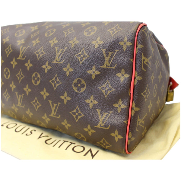 Lv Totem Speedy 30 Monogram Canvas Satchel bottom right