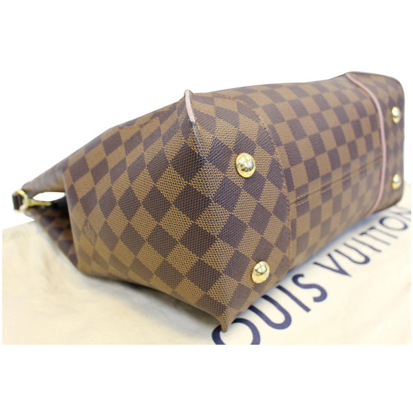 LOUIS VUITTON Caissa Damier Ebene Hobo Bag Rose Ballerine-US
