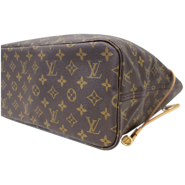 Louis Vuitton Neverfull MM Canvas Tote Shoulder Bag - back view