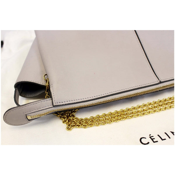 Celine Tri-Fold Clutch on Chain Crossbody Bag-Top left view