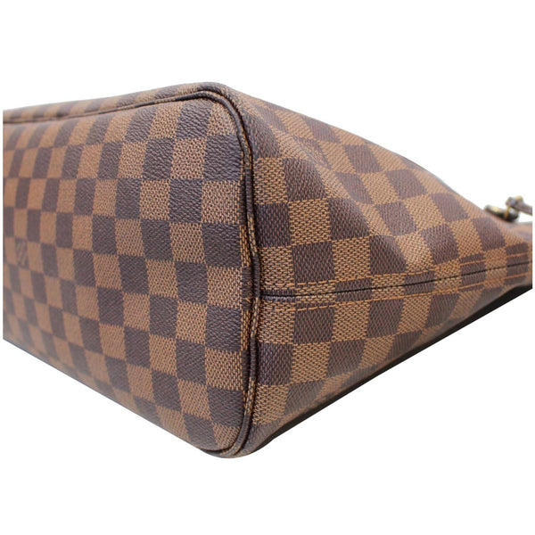 LV Neverfull MM Damier Ebene Bag Brown back view