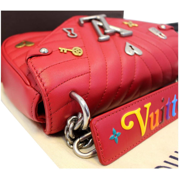 Louis Vuitton PM Wave Love Lock Chain Shoulder Bag red
