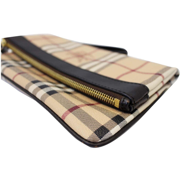 BURBERRY Haymarket Check Adeline Foldover Clutch Brown-US