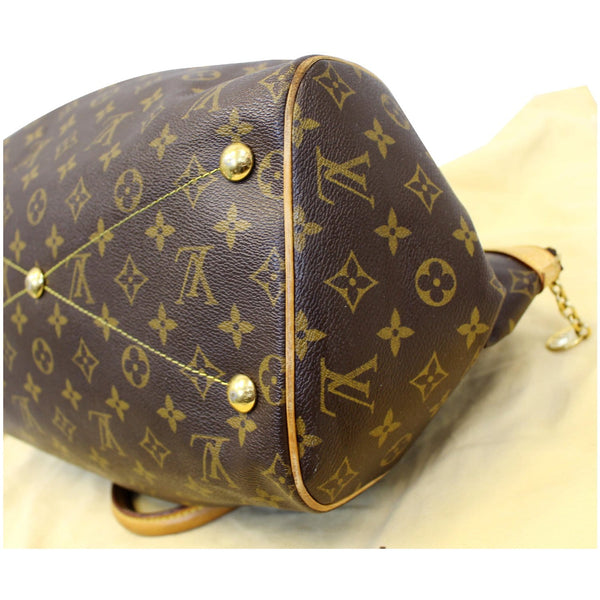 lv Tivoli GM Monogram Canvas Shoulder Bag right seams