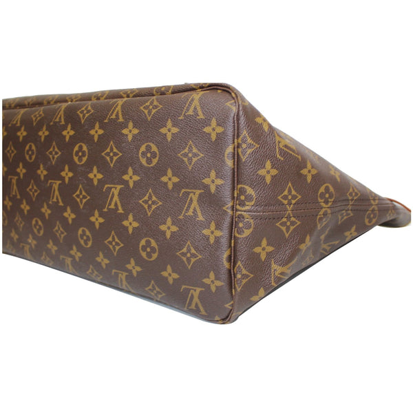 LV Neverfull GM Monogram Canvas Tote Shoulder Bag Brown side view