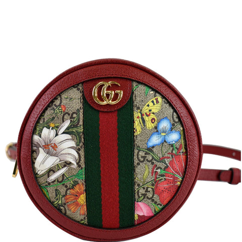 GUCCI Ophidia GG Floral Mini Supreme Backpack Bag Red 598661