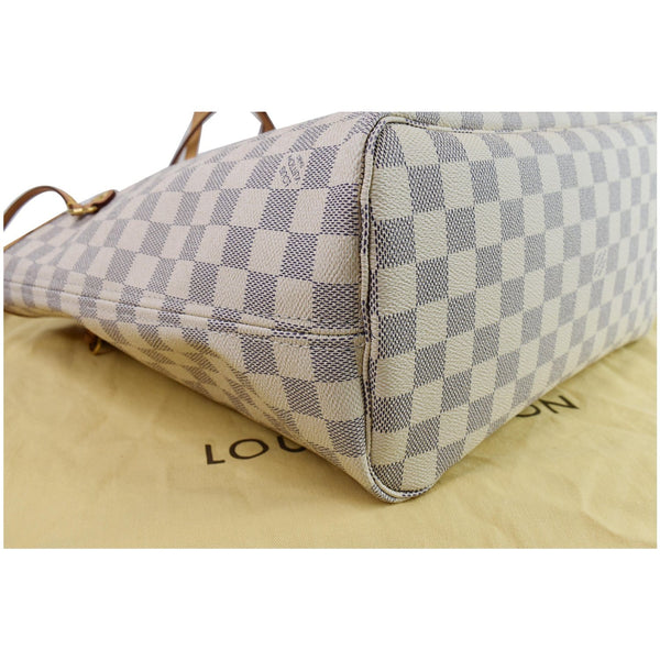 Louis Vuitton Neverfull MM Damier Azur Shoulder Bag for women