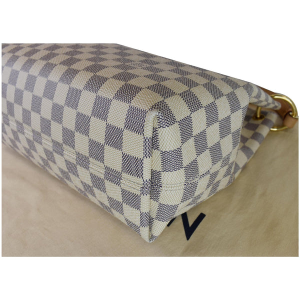 Louis Vuitton Graceful PM Damier Azur Shoulder Bag - corner side