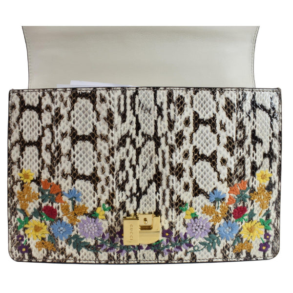 Gucci Small Sylvie Floral Embroidered Bag front view