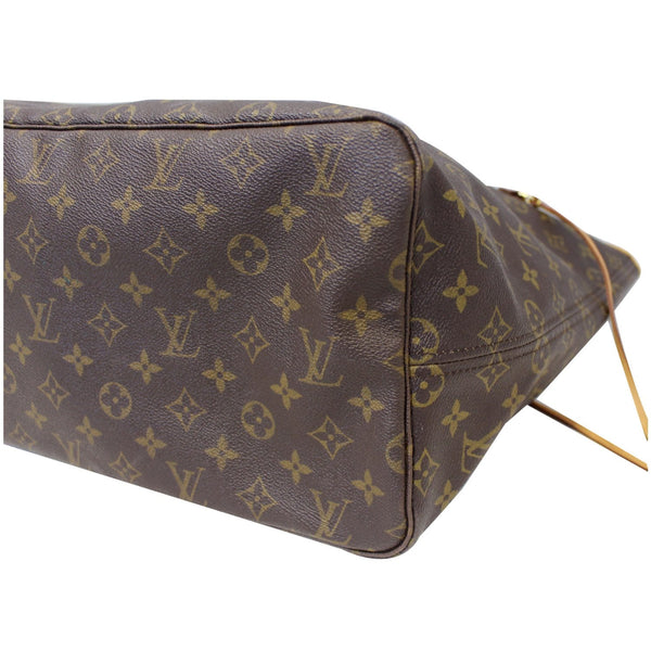 Back View Lv Neverfull GM Monogram Canvas Tote Bag