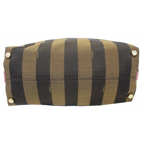 Fendi Tobacco Pequin Stripe Canvas Large - back view