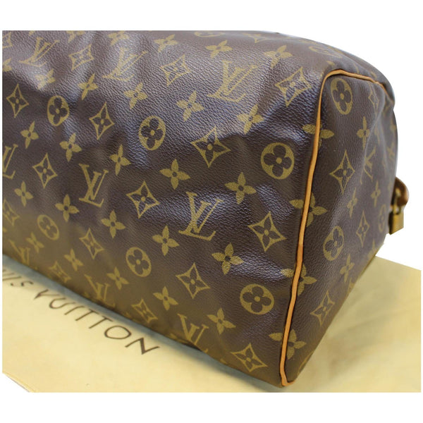 LOUIS VUITTON Speedy 35 Monogram Canvas Satchel Bag Brown