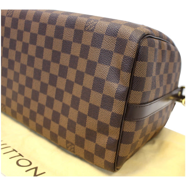 Side View Lv Speedy 30 Damier Ebene Bandouliere Bag
