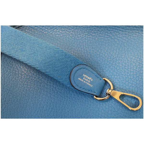 HERMES Evelyne III TPM Taurillon Clemence Shoulder Crossbody Bag Blue