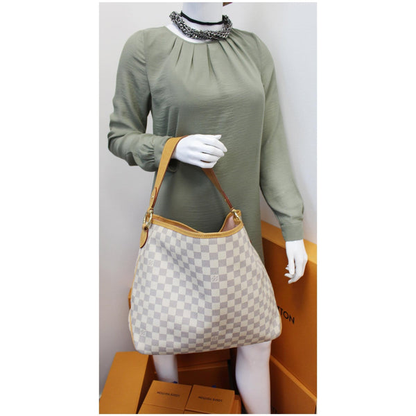 Louis Vuitton Delightful PM Damier Azur Hobo Bag for women