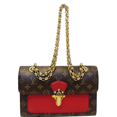 LOUIS VUITTON Victoire Monogram Canvas Shoulder Crossbody Bag Cherry